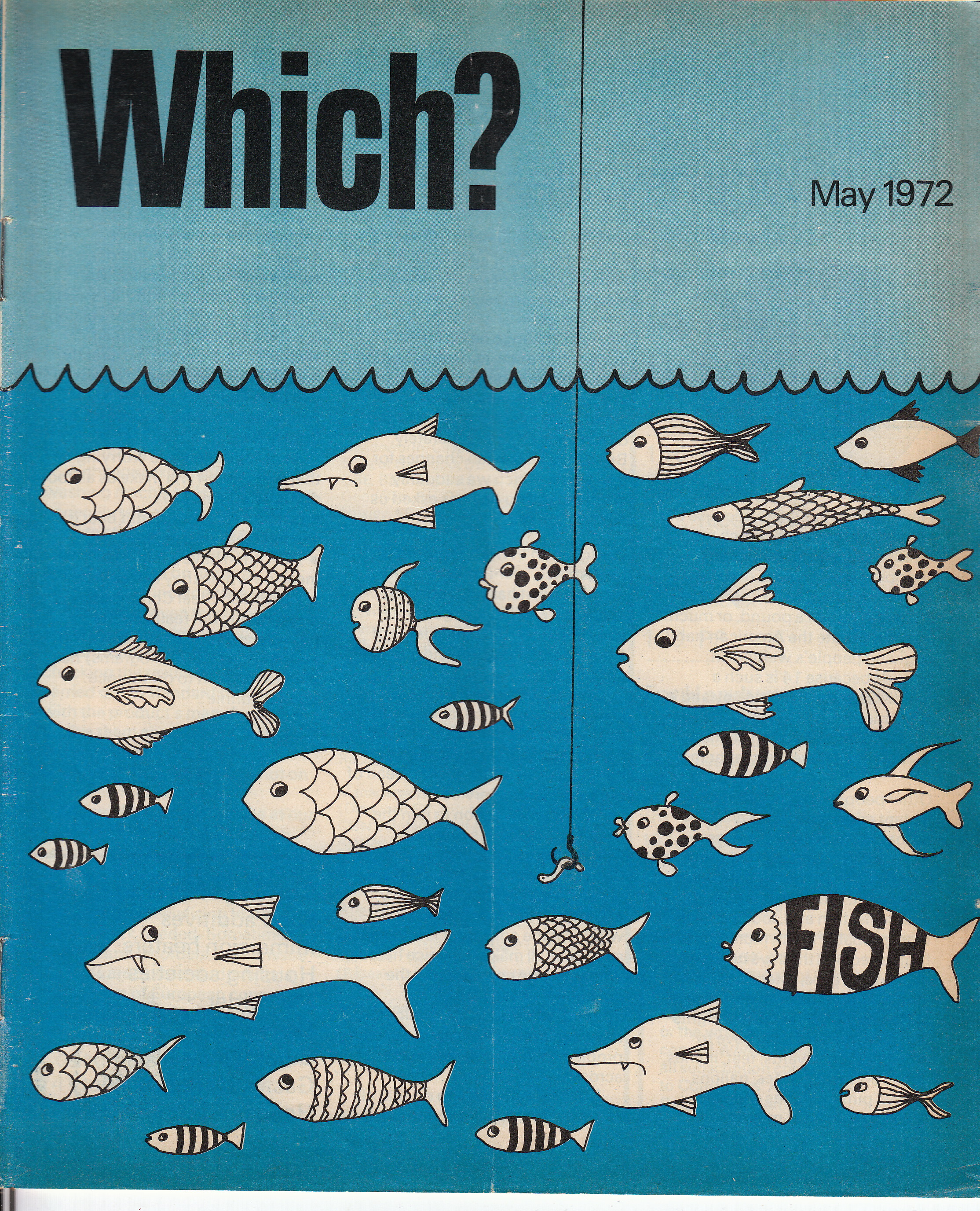 which fish blue poster may 1972 renay keskin